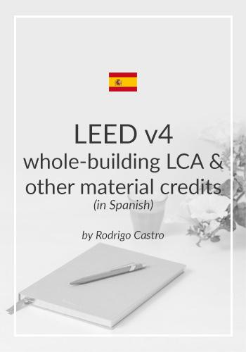 LEED v4 whole-building LCA and other material credits (in Spanish)