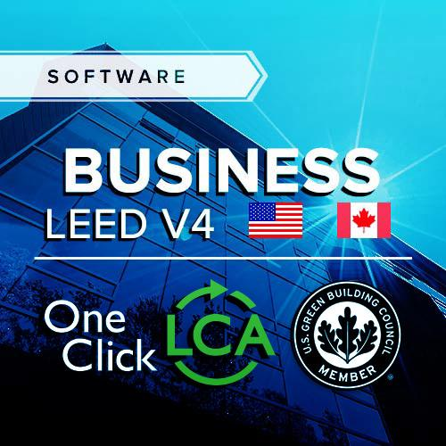 One Click LCA LEED v4 MRc1 LCA software for USA North America