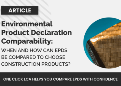 EPDs Comparability