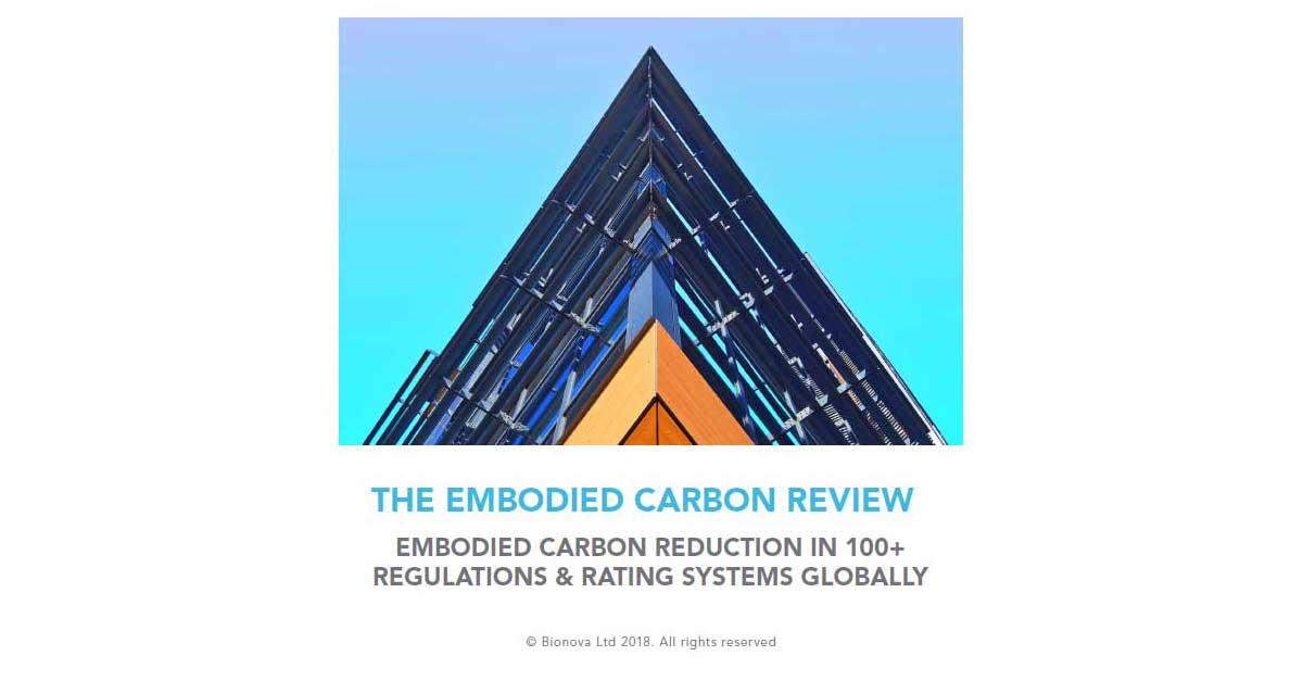 The Embodied Carbon Review is a brand new study on embodied carbon reduction in construction worldwide. Download it for free!