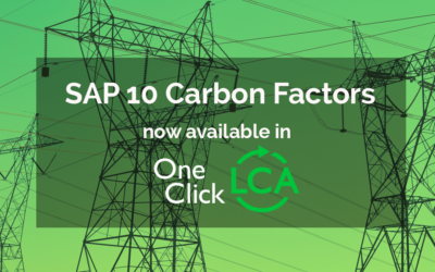 SAP 10 Carbon Factors are now included to One Click LCA reporting