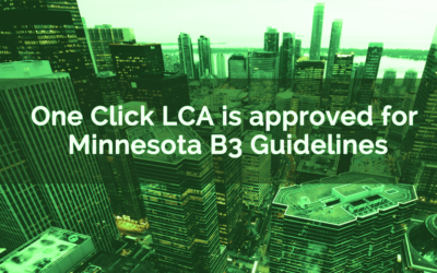 One Click LCA is approved for Minnesota B3 Guidelines