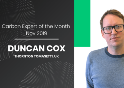 Carbon Expert of the Month – Duncan Cox from Thornton Tomasetti