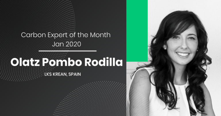 Carbon Expert of the Month January 2020 – Olatz Pombo Rodilla from Krean