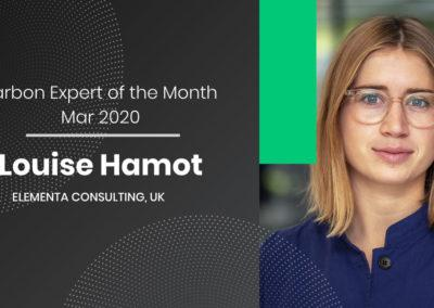 Carbon Expert of the Month March 2020 – Louise Hamot from Elementa Consulting