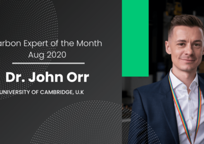 Carbon Expert of the Month August 2020 – Dr John Orr from Cambridge University
