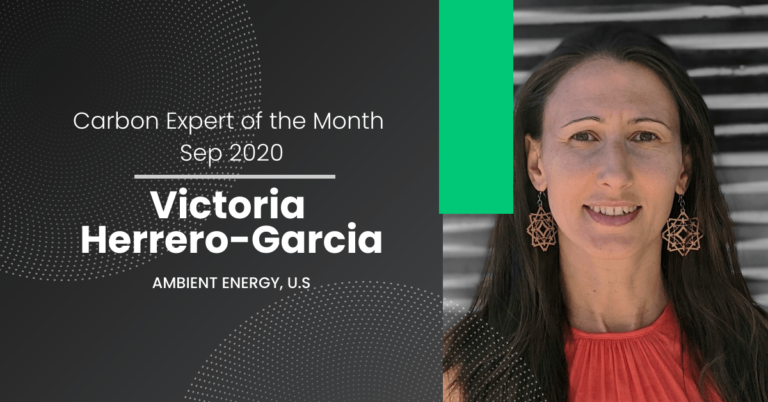 Carbon Expert of September 2020 – Victoria Herrero-Garcia from Ambient Energy