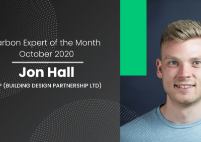 Carbon Expert of October 2020 – John Hall, Sustainability Consultant at BDP