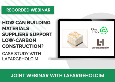 [Recorded webinar]How can building materials suppliers support low-carbon construction? Case study with LafargeHolcim