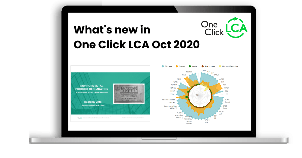 [Live webinar]What's new in One Click LCA October 2020